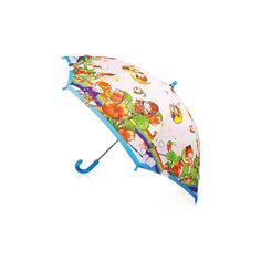 """Зонт-трость, детский, рисунок """"На радуге"""" Zest"""