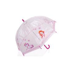 """Зонт-трость, детский, рисунок """"Розовый пони"""" Zest"""