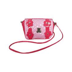 """Сумочка """"Цветы"""" на плечо, розовая Shantou Gepai"""