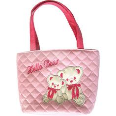 "Сумочка ""Мишки"", розовая, 18х20 см. Shantou Gepai"