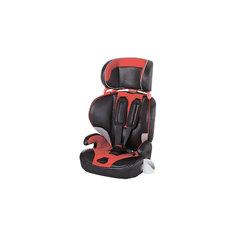 Автокресло CS901-W4VR 9-36 кг., Geoby, черный с красными вставками