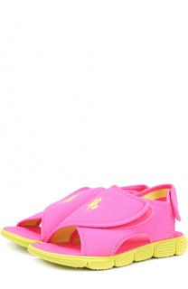 Сандалии с застежками велькро на контрастной подошве Polo Ralph Lauren