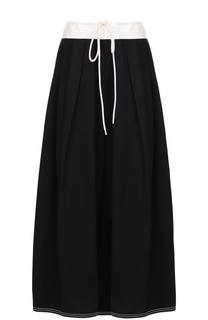 Льняная юбка-макси с высокими разрезами Chloé