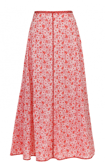 Хлопковая юбка-миди с цветочным принтом Rosie Assoulin