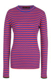 Облегающий пуловер фактурной вязки в контрастную полоску Proenza Schouler