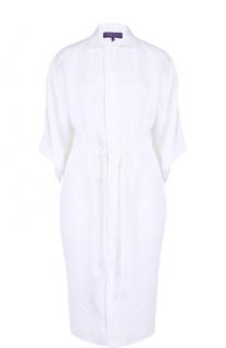 Льняное платье-рубашка свободного кроя Ralph Lauren