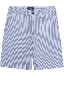Шорты из хлопка с контрастными пуговицами Polo Ralph Lauren