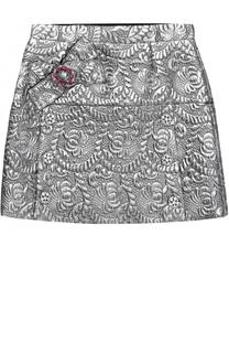 Мини-юбка с металлизированной отделкой и кристаллами Dolce & Gabbana