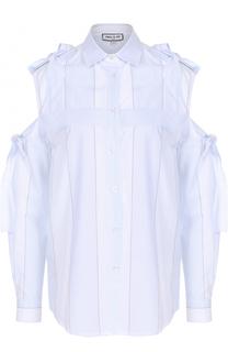 Хлопковая блуза с открытыми плечами и бантами Paul&Joe Paul&Joe