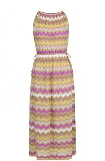 Приталенное платье-миди без рукавов M Missoni