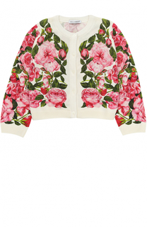 Кардиган джерси с принтом Dolce & Gabbana