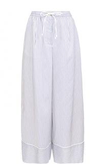 Широкие брюки в полоску с эластичным поясом Sacai
