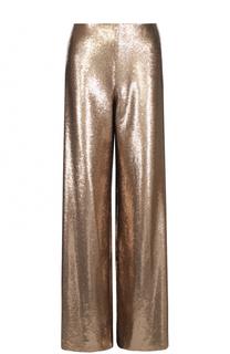 Шелковые широкие брюки с пайетками Ralph Lauren