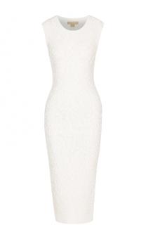 Вязаное платье-футляр с фактурной отделкой Michael Kors