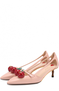 Кожаные туфли Unia с декором Gucci
