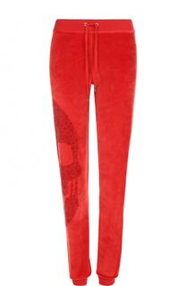 Спортивные велюровые брюки со стразами Philipp Plein