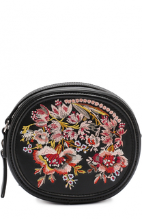 Кожаная сумка с вышивкой No. 21