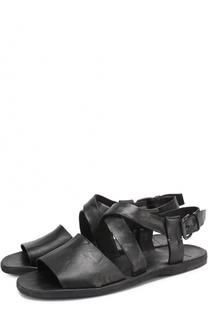Кожаные сандалии на плоской подошве Officine Creative