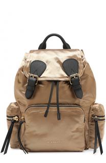 Текстильный рюкзак с отделкой из кожи Burberry
