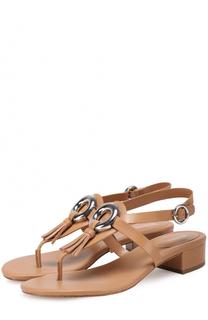 Кожаные сандалии Darien с декором MICHAEL Michael Kors