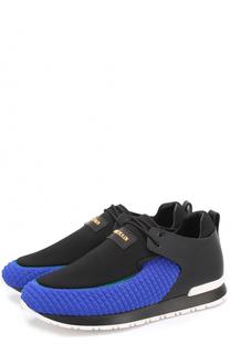 Комбинированные кроссовки с логотипом бренда Balmain