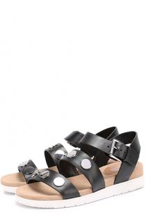 Кожаные сандалии Reggie с заклепками MICHAEL Michael Kors