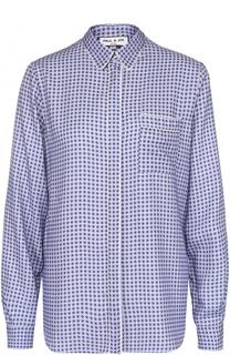 Блуза прямого кроя с принтом и накладным карманом Paul&Joe Paul&Joe