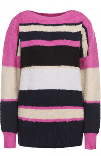 Пуловер прямого кроя в контрастную полоску Sacai