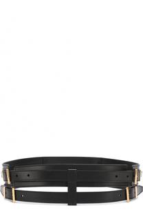 Двойной кожаный ремень Tom Ford