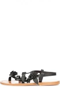 Кожаные сандалии с аппликациями Golden Goose