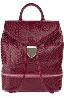 Рюкзак из кожи питона с лямками-цепочками Alexander McQueen