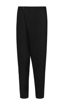 Льняные брюки свободного кроя с заниженной линией шага Isabel Benenato