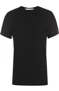 Хлопковая футболка с накладным карманом Isabel Benenato