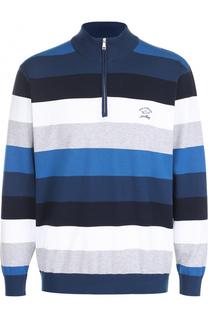 Хлопковый свитер тонкой вязки с воротником на молнии Paul&Shark Paul&Shark