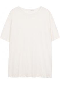 Льняная футболка свободного кроя Isabel Benenato