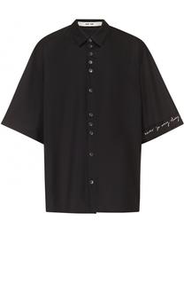 Хлопковая рубашка свободного кроя с декоративной отделкой Damir Doma