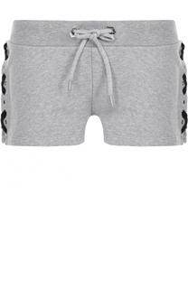 Хлопковые мини-шорты с контрастной шнуровкой Philipp Plein