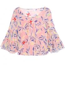Шелковая блуза свободного кроя с цветочным принтом See by Chloé