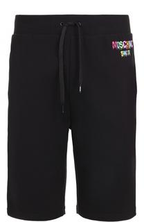 Хлопковые шорты свободного кроя Moschino
