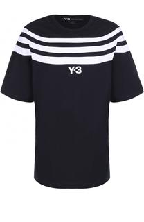 Хлопковая футболка свободного кроя с контрастной отделкой Y-3