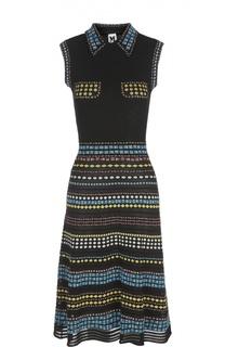 Платье-рубашка без рукавов с орнаментом M Missoni