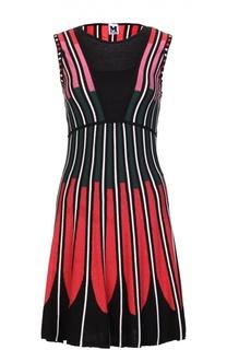 Приталенное платье без рукавов с контрастным принтом M Missoni