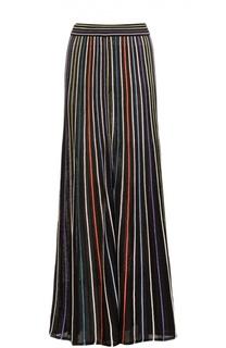 Вязаная юбка макси в контрастную полоску M Missoni