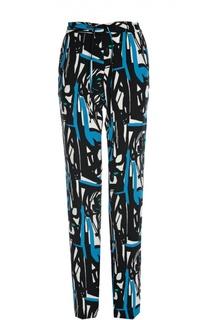 Прямые брюки с регулируемым поясом и ярким принтом Gerard Darel