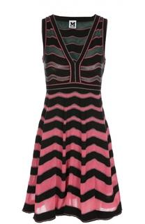 Мини-платье в полоску с V-образным вырезом M Missoni