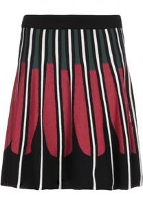 Вязаная юбка со складками и контрастным принтом M Missoni