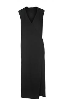 Платье с запахом и V-образным вырезом Helmut Lang
