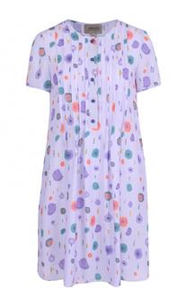 Мини-платье прямого кроя с цветочным принтом Armani Collezioni