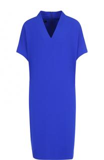 Платье-миди прямого кроя с V-образным вырезом и карманами Escada