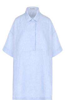 Льняное платье-рубашка свободного кроя Acne Studios